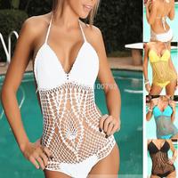 new crochet knit monokini  Swimsuit Sexy one piece swimsuits Women's Bathing Suit one piece swimwear for women