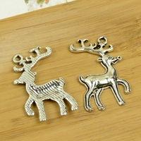 50pcs/lot A3491 antique silver deer shape alloy charm pendant fit jewelry making 37X29MM Wholesale