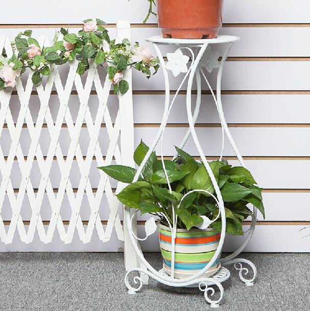Nice Green Plant Stands Indoor : Wrought iron flower stand shelf multi layer paint plant indoor floor ...