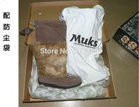 Luxurious Manitobah Mukluks Canada Brand Beading Genuine Leather Sheepskin High Mid Calf Rabbit Fur Winter Snow Boots