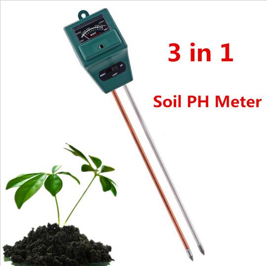 3 in 1 Plant Flowers Soil Test Kits PH Tester Moisture Meter Light Illuminance Analyzer for Indoor Outdoor Garden Plant Flowers(China (Mainland))