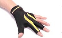 high Elasticity 3 finger billiard gloves/Pool gloves/ Snooker billiard table Gloves freeshipping