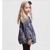 2015 new fashion brand girls elegance dress and a hair wat, high quality princess dress with pattern,European design kids dress.