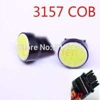 1X  DC 12V T25 3157 car led 1 cob smd auto light bulb lamp car styling parking lamp Free shipping