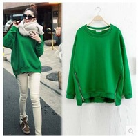 fashion irregular sweep long-sleeve sweatshirt plus size female sweater women hoodies