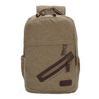 Wholesale explosive version of the new high-end men canvas backpack schoolbag bag leisure package tide