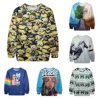 Tongue Bomb/Galaxy/Animal/Cartoon Funny Pattern Printed Hoodies Tops Autumn 2015 Women Brand Sweatshirts Slim Outdoor Sportwear