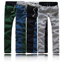 New 2015 Casual Sweat Pants for Men Training Fleece Jogging Long Trousers Plus Size Sport Sweatpants M-5XL
