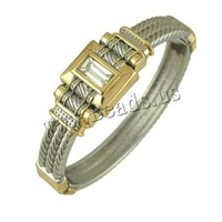 Free shipping!!!Zinc Alloy Bangle,Wedding Jewelry, with Crystal, plated, faceted, nickel, lead & cadmium free, 19x12.50mm