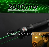 High quality*Free Shipping Green Laser Pointer 1000MW 2000MW 5000MW 532nm Laser pointer adjustable focus star burning match