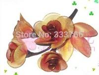 Free Shipping DIY Corsage Nylon stocking flowers screen-flowers Headdress