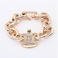 Hot selling European and American  women  big gold-plated bracelet simple wild section