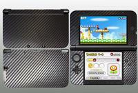 For 3DSXL 3DS XL Black Carbon Fiber Skins Sticker Decals Cover 1 pc Free Ship