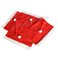 XMAS 4pcs/set Christmas Decorations Happy Santa Claus Red Hat Chair Seat Back Cover Cushion GIFT (KYJ103)