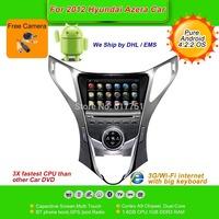 Pure Android 4.2.2 OS 8''Car DVD Player for 2012 Hyundai Azera, AutoRadio,GPS,Navi,Multimedia,Radio,Ipod,Free Cam,Free shipping