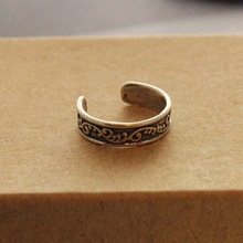 Vintage Silver Fashion Women s Toe Rings Simple Carving Patterns Foot Ring Hot Selling