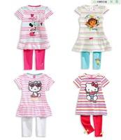 2015, the new Lolita clothes plus pants suit striped suit pants pretty bow girl's clothes