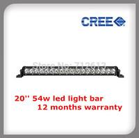 "20"" 54W single row CREE led light bar OFF ORAD LED LIGHT BAR FREE SHIPMENT"