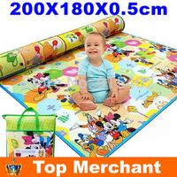 2 Meter Baby Play Mat Baby Kids Game pads Toys mats Cute Cartoon Baby Crawling Mat Child Kids Beach Mat Picnic Carpet PX05