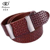 2015 real new arrival hot sale top fashion belts men handmade cowhide buckle 100% genuine leather plate mens belt