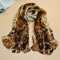 Women fashion Winter Spring warm spain desigual scarf Chiffon leopard printed brand scarves Female casual scarf wrap shawl