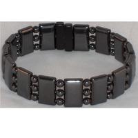 2014 Charm Semi Precious Stone Beads Hematite Bracelet 3 strands Handmade Magnetic Bracelet