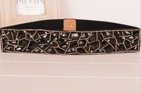 2014 New Arrival Cintos Femininos Korean Wild Retro Wide Belt Brand Acrylic Fur Belt Female Elastic Belts For Women