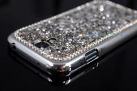 New Diamond Bling Rhinestone Crystal Hard Jelly Case for Samsung Galaxy S4 i9500 1PC Free ship