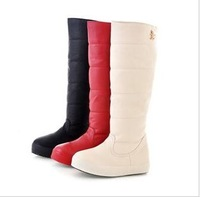 Free Shipping 2015 New Ladies Fashion decoration buckle elevator high-leg boots snow boots Women long boots