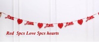 Non-woven hollow love banner love ornaments decorate wedding party arranged marriage room garland more style option