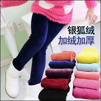 Children fox woolen pants autumn and winter leggings girl child thick trousers Korean style