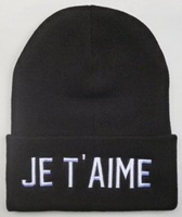Je t'aime Men winter Beanie Hats Hip-Hop wool Cotton knitted warm caps Snapback hat for man and women 1pcs