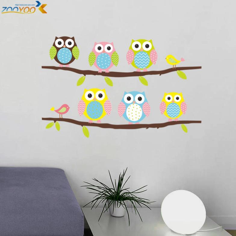 Детская комната сова наклейки на стены zooyoo1020 ...