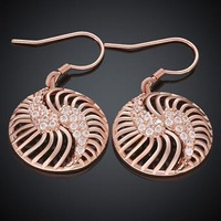 KZCE008-B // Factory Price Rose gold plated  fashion Earrings , high quality hot sale jewelry gold plated Popular Earrings