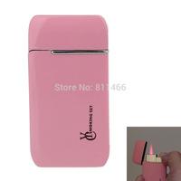 Wholesale & Retail Creative Refillable Pocket Mini cigarette cigar lighter Butane gas lighter-pink-C100121