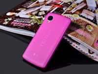 Hot selling 0.3mm Ultra Thin Matte Clear Slim Case Transparent Cover for LG Google Nexus 5 10 colors