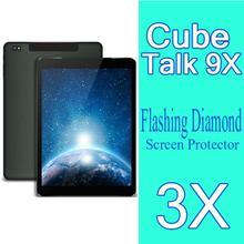 Cube U65GT Talk 9X Diamond Screen Film 3X New Original Diamond Sparkling Screen Protector Cube U65GT Talk9X Tablet PC 9.7″inch