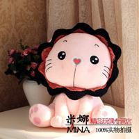 large 45cm pink cartoon sunflower lion plush toy, birthday gift b9993