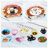 (1 Lot=6 Sets=426 Pcs) DIY Scrapbooking Paper Cute Animals Diary Stickers Birthday Album Wedding Decoration Sticker
