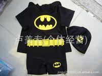 Batman style boys one-piece swim I swimwear swimwear swimsuit Cap piece for children for children swimwear
