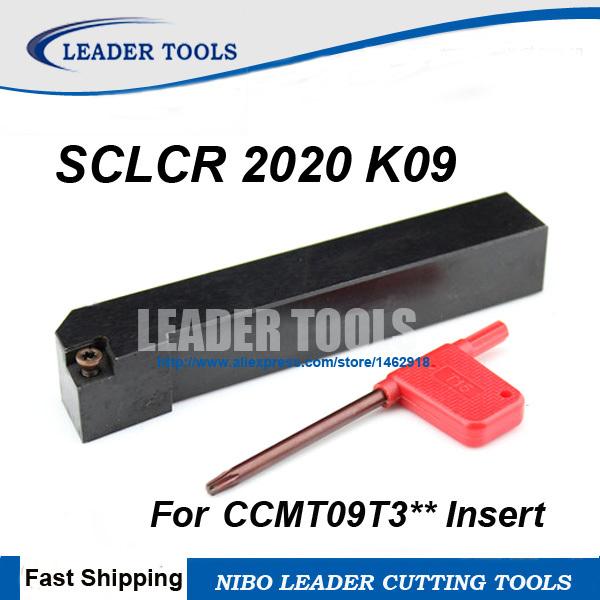 Инструмент для обработки деталей вращения Leader SCLCR 2020 K09 , 20 * 20 * 125 , CCMT0602 SCLCR2020K09 инструмент для обработки деталей вращения mcmnn2020k12 100 cnc 20 20 125 mcmnn2020k12 100