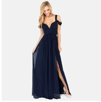 Festival hot selling floor-length V-shape chiffon sexy long dress