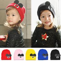 New Cute  1 Piece kids Baby Hats Children's Skullies Baby Cap Beanies, lovey Cartoon baby handmade hats