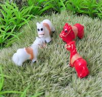 mini morld red white horse ZAKKA 3D simulation kawaii resin doll Mosses Micro Landscape Bonsai Aquarium Decoration DIY material
