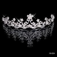 Awesome Crystal Shining Bridal Crown Popular Tiara Para Noiva Fashion Hairgrip Horquillas Wedding Jewelry 18-024