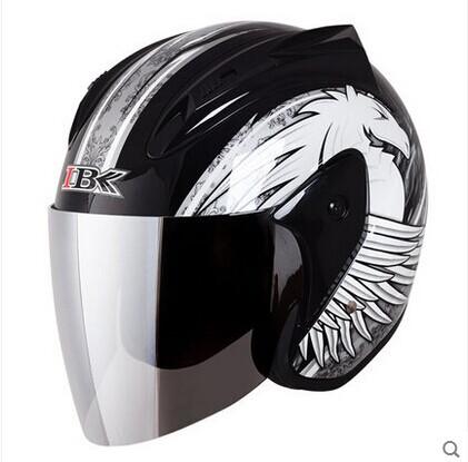 half face Motorcycle helmet men winter keep warm anti fog motorcycle safety helmet Capacete moto Casco motocicleta(China (Mainland))