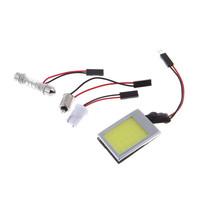 2pcs 3W COB 18 Chip LED Car Interior Light T10 w5w Ba9s t4w Festoon C5w Dome Adapter Led Car LED Panel Auto Car Light Source