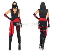 Ninja masked warrior women's Halloween Cosplay pirate clothes black ninja suit stage loaded evening dress