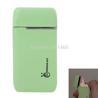 Wholesale & Retail Butane gas lighter windproof Refillable Pocket Mini cigarette cigar lighter -green-C100124