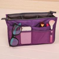 HOT Sale ! 13 Colors Make up organizer bag Women Men Casual travel bag multi functional Cosmetic Bag storage bag in bag Handbag